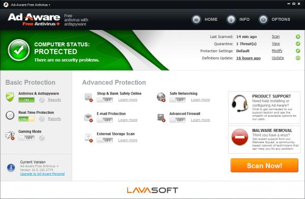 Ad-Aware Free Antivirus 11, antimalware y antivirus gratuito