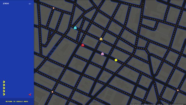 googlemaps-pacman