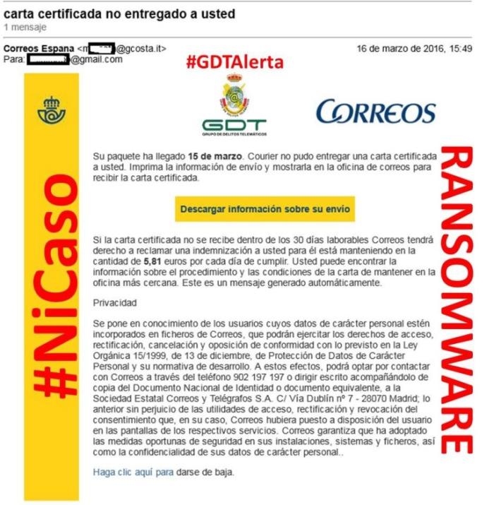 ransomwareCorreos