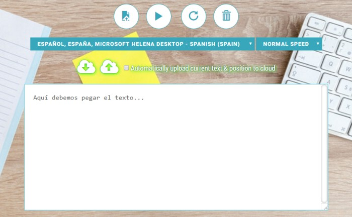 Free Text To Speech Reader Herramienta Online Para Convertir Todo Tipo De Textos En Voz Informático Vitoria